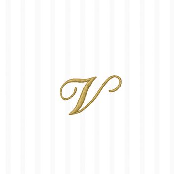 "White w/ Gold Monogram ""V"" Beverage Napkins 20ct."
