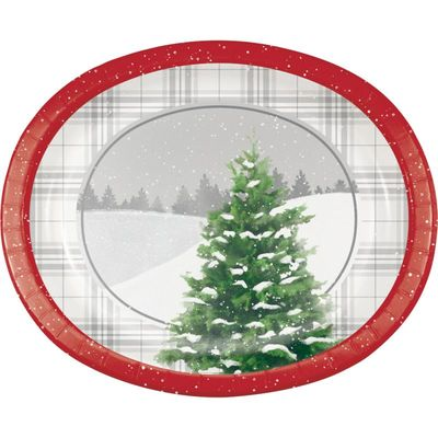 Winter Christmas Tree Platters