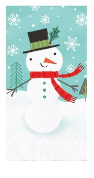 Winter Snowman Christmas Paper Guest Towels, 16 count