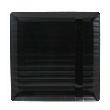 "Zen 10 1/4"" Black Square Plastic Dinner Plates *Case of 120*"