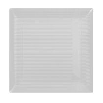"Zen 10 1/4"" Clear Square Plastic Dinner Plates 10ct."