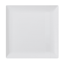 "Zen 10 1/4"" White Square Plastic Dinner Plates 10ct."