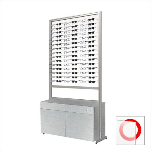 90 Frame Capacity ASIS DW  Optical Frame Units with Silver Cabinet