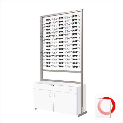90 Frame Capacity ASIS DW Optical Frame Display  Units with White Cabinet