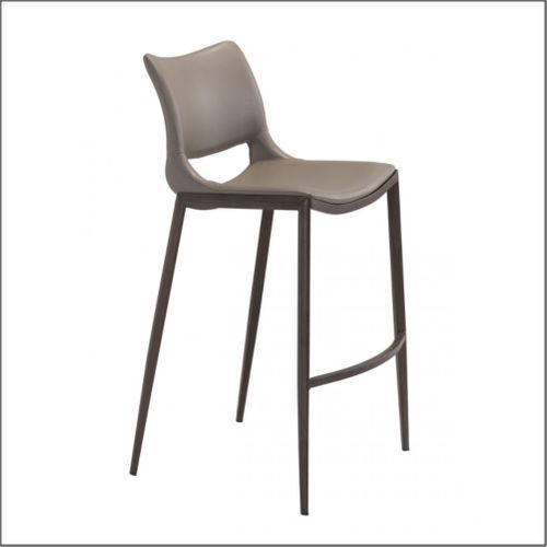 Optical - Client Bar Chairs - Gray & Walnut