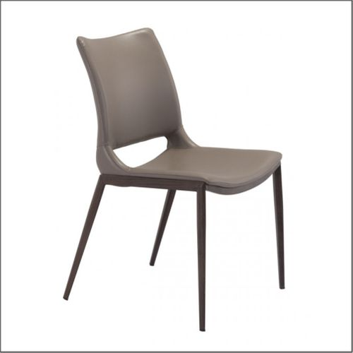 Optical  - Client Chairs - Gray & Walnut