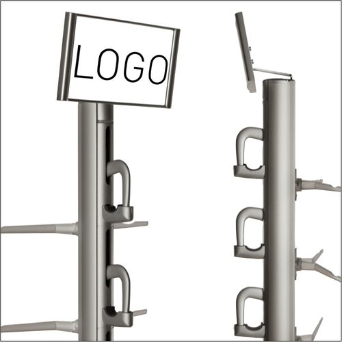 DME-15 Top Logo Holder in White