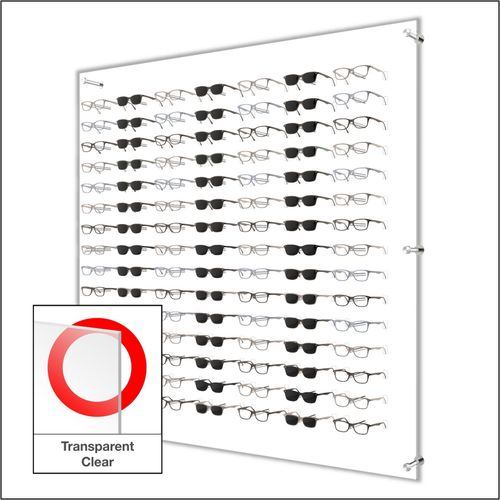 DW31-105F Open Wall mount Acrylic  Optical Frame Display with Hardware- 47.5 inch (H)