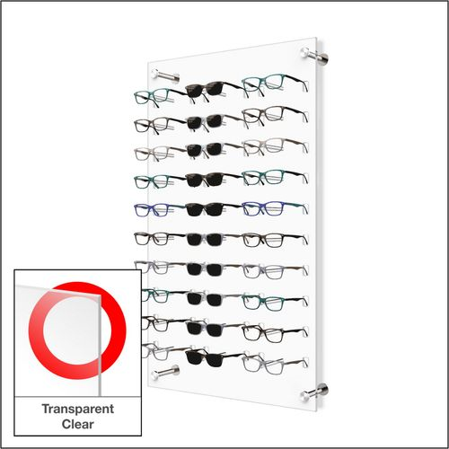 DW31-30F Open Wall mount Acrylic Optical Display with Hardware- 31.75 inch (H)