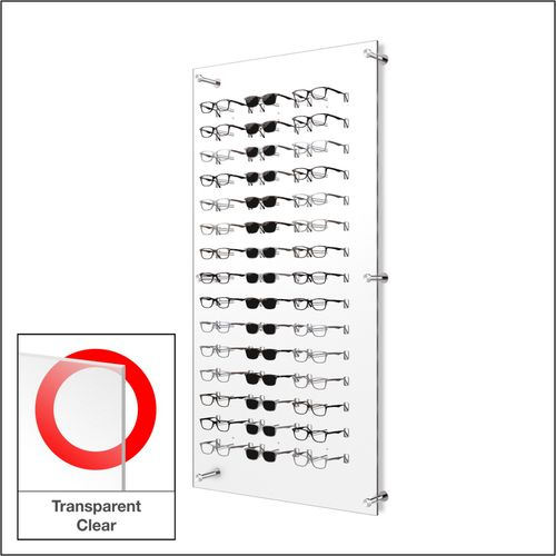 DW31-45F Open Wall mount Acrylic  Optical Frame Display with Hardware- 47.5 inch (H)