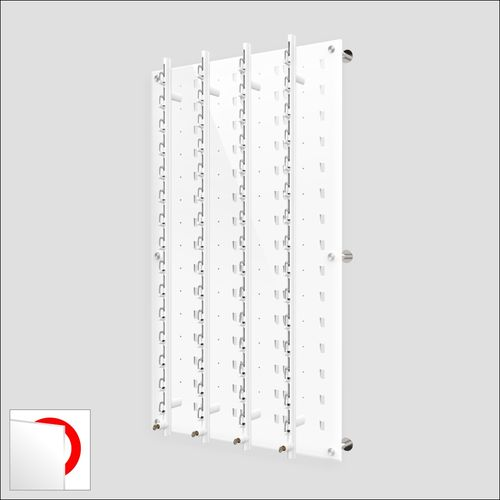 DW31-60FH Locking Wall mount Acrylic Optical Display with Hardware- 47.5 inch H