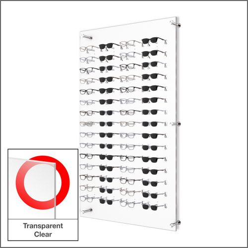 DW31-60FH Open Wall mount Acrylic  Optical Frame Display with Hardware- 47.5 inch (H)