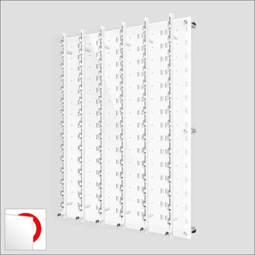 DW31-90F Locking Wall mount Acrylic Optical Display with Hardware- 47.5 inch (H)
