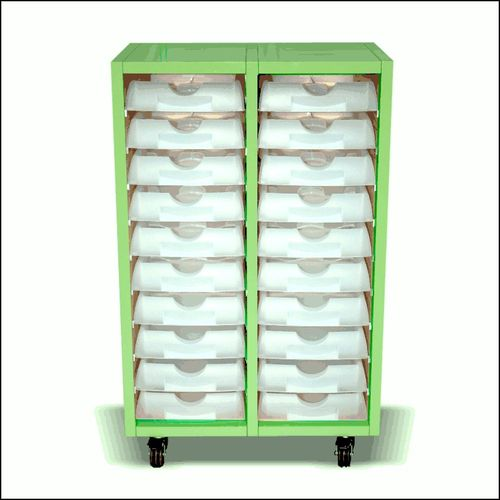 Floor Top Lab Tray Cabinet with Wheels