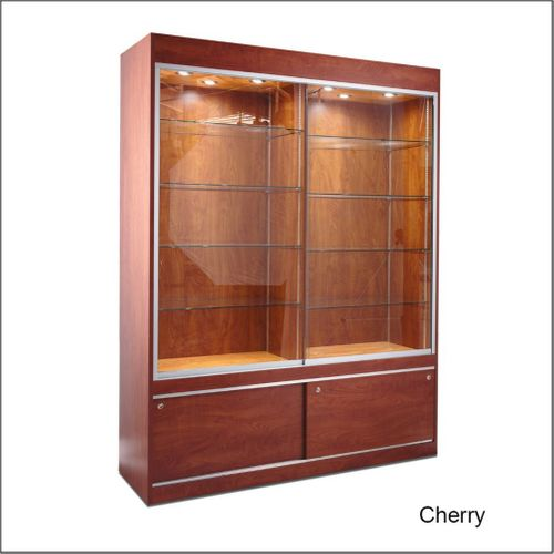 TD120 Rectangular  Optical Frame Display Wall Case with Solid Sides and Divide