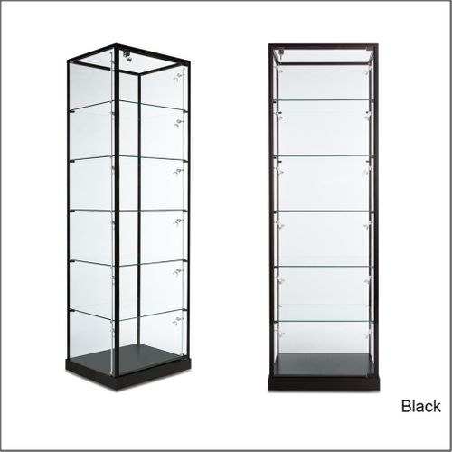 TW10TG Rectangular Tower  Optical Frame Display Case with Top in Glass