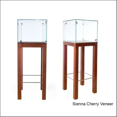 PD132 Pedestal  Optical Frame Display Showcase with Top in Glass and Legs