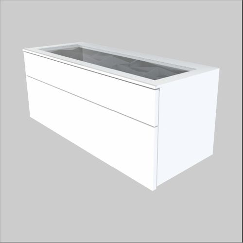 High-Quality European Glass-Top Cabinet - 36.6 inches wide (930 mm)