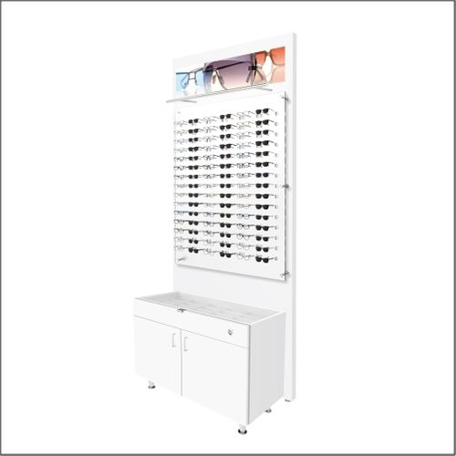 Lit Back Panels with Optional GlassTop Cabinets - For DW-31-90 Panels