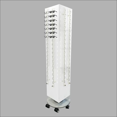 Locking and Rotating 144 Piece  Optical Frame Display in White