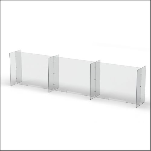 Modular Expandable Double-sided Sneeze Guards 142.5(W) x 35.433(H) x 19.695(D) inches- Set XCXCXCX