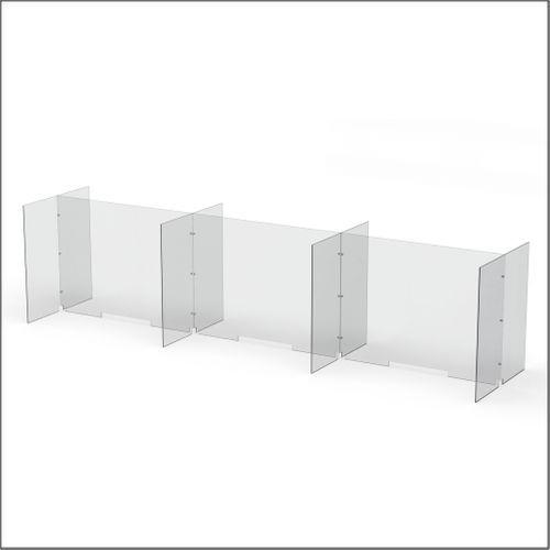 Modular Expandable Double-sided Sneeze Guards 142.5(W) x 35.433(H) x 31.89(D) inches- Set YCYCYCY