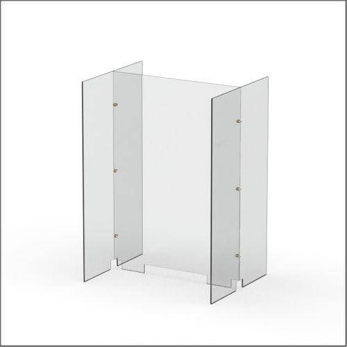 Modular Expandable Double-sided Sneeze Guards 24.882(W) x 35.433(H) x 19.695(D) inches- Set XAX