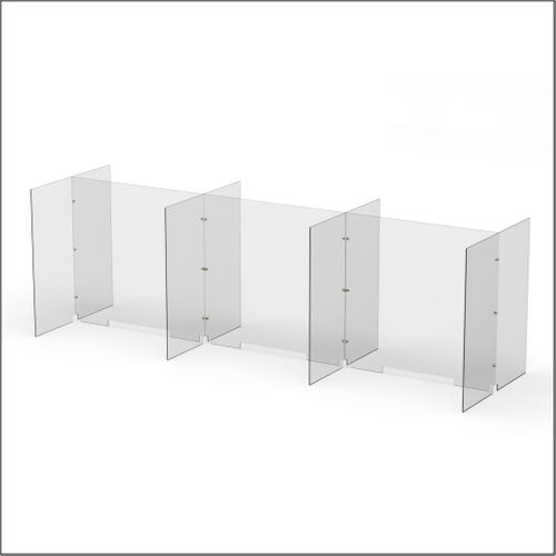 Modular Expandable Double-sided Sneeze Guards 24.882(W) x 35.433(H) x 19.695(D) inches- Set YBYBYBY