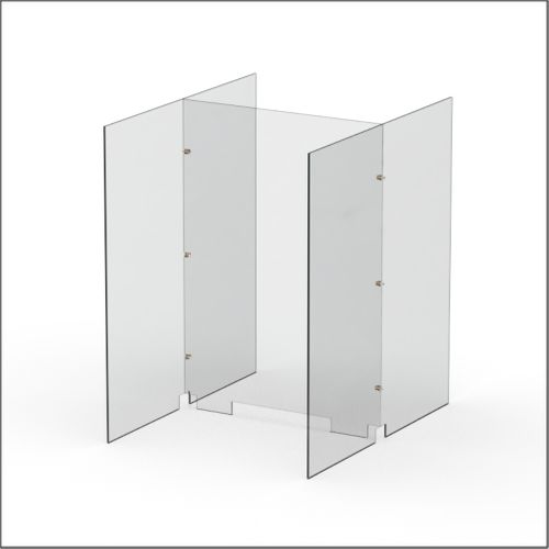 Modular Expandable Double-sided Sneeze Guards 24.882(W) x 35.433(H) x 31.89(D) inches- Set YAYYAY