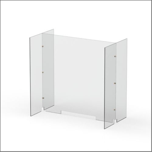 Modular Expandable Double-sided Sneeze Guards 36.693(W) x 35.433(H) x 19.695(D) inches- Set XBX