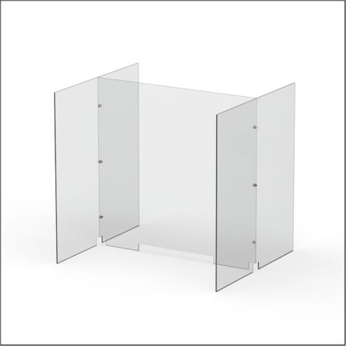 Modular Expandable Double-sided Sneeze Guards 36.693(W) x 35.433(H) x 31.89(D) inches- Set YBY