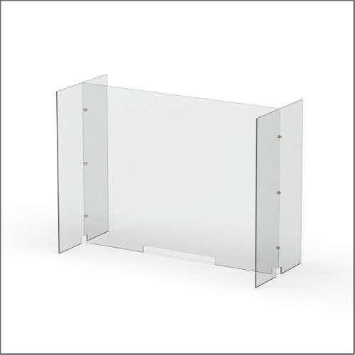 Modular Expandable Double-sided Sneeze Guards 47.5(W) x 35.433(H) x 19.695(D) inches- Set XCX