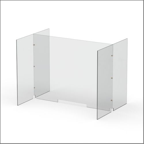 Modular Expandable Double-sided Sneeze Guards 47.5(W) x 35.433(H) x 31.89(D) inches- Set YCY