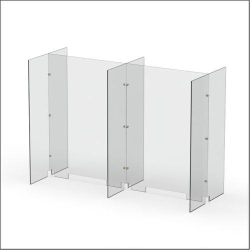 Modular Expandable Double-sided Sneeze Guards 49.764(W) x 35.433(H) x 19.695(D) inches- Set XAXAX
