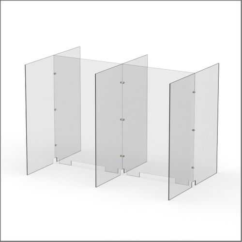 Modular Expandable Double-sided Sneeze Guards 49.764(W) x 35.433(H) x 31.89(D) inches- Set YAYAY