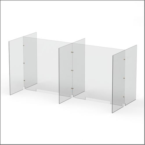 Modular Expandable Double-sided Sneeze Guards 73.386(W) x 35.433(H) x 31.89(D) inches- Set YBYBY