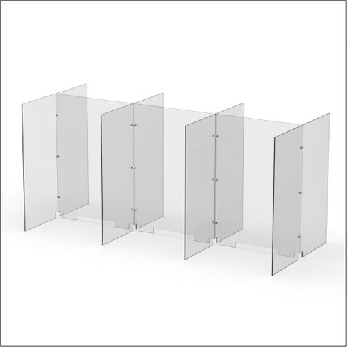 Modular Expandable Double-sided Sneeze Guards 74.646(W) x 35.433(H) x 31.89(D) inches- Set YAYAYAY