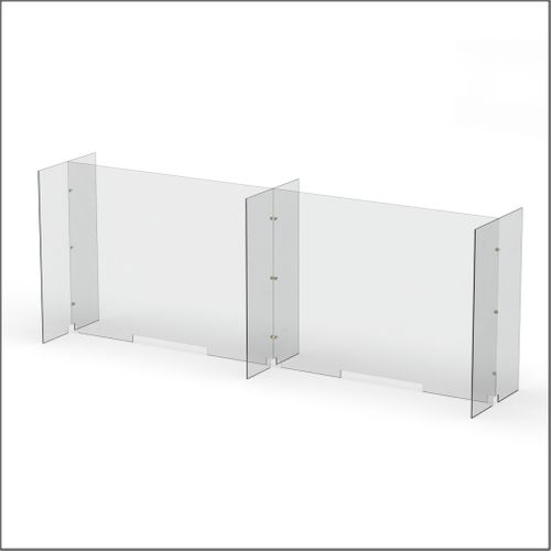 Modular Expandable Double-sided Sneeze Guards 95(W) x 35.433(H) x 19.695(D) inches- Set XCXCX