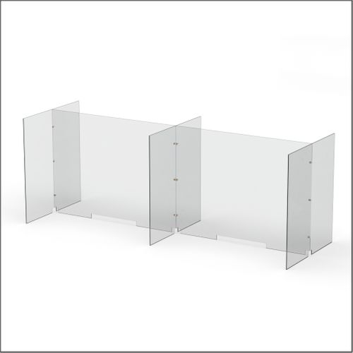 Modular Expandable Double-sided Sneeze Guards 95(W) x 35.433(H) x 31.89(D) inches- Set YCYCY