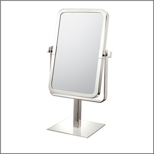 Rectangular Free Standing Double Sided Magnified Mirror