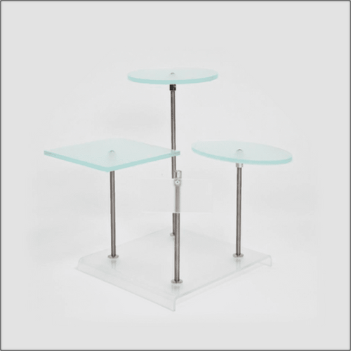P.O.S. Counter Top Unit with Logo Plate - Optical Frame Displays & Risers