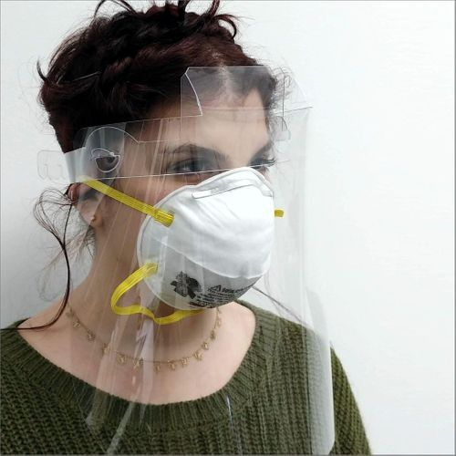 Facial Sneeze Guard and Cough Shield for Face
