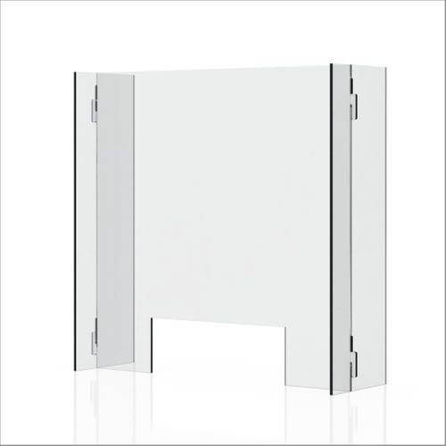 "Plexiglass Sneeze Guard & Shield For Counters - 23.6"" x 23.6"""