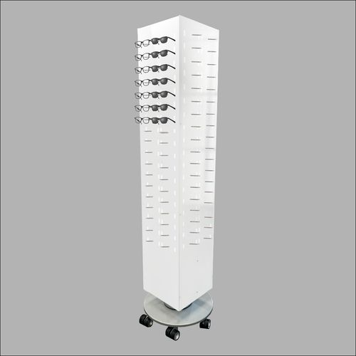 Rotating 144 Piece Optical Frame Display in White