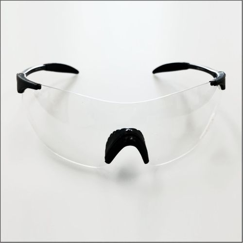 SAFETY GLASSES 8506 WITH CLEAR LENS - Black