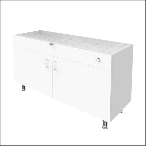 """Single Large DW Cabinets for DW Panels - 47.5"""" Wide with Glasstop For DW-31-105 Panels"""