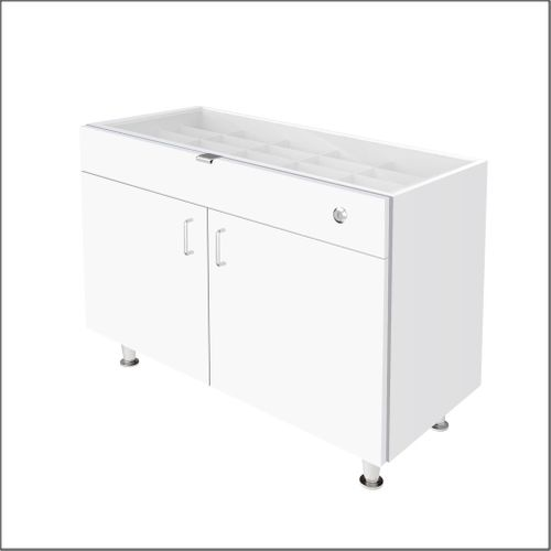 """Single Small DW Optical Cabinets for DW Panels - 36"""" Wide with Glasstop For DW-31-90 Panels"""