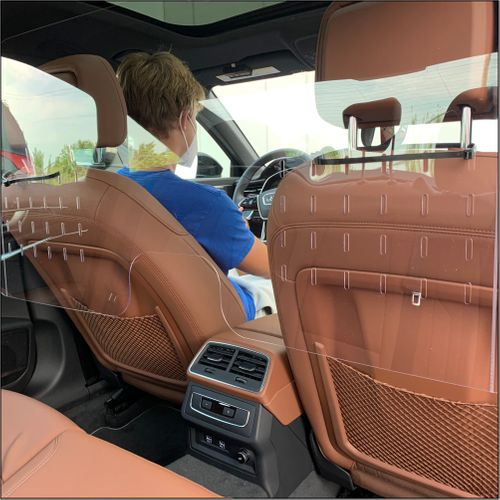 """Sneeze Guards For Cars - Protective Screens for Cars - Quick Installation - 44"""" W x 21.625"""""""