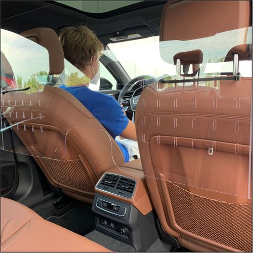"""Sneeze Guards For Cars - Protective Screens for Taxis and SUVs - Quick Installation - 44"""" W x 21.625"""""""
