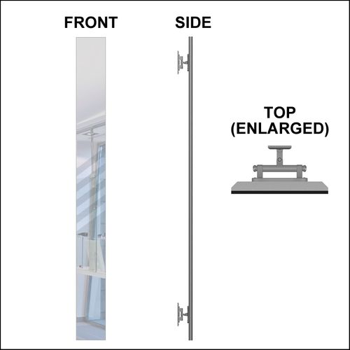 Optical Wall-mounted Swiveling Mirror for DW-31-45 & DW-31-60FH & DW-31-90 &  DW-31-105 Panels